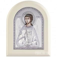 Ікона Ангела Хранителя в сріблі на хрещення