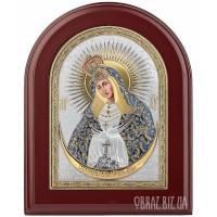Ікона Божої Матері «Остробрамська» в сріблі з позолотою
