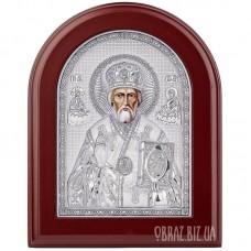 Ікона Миколи Чудотворця в сріблі на подарунок
