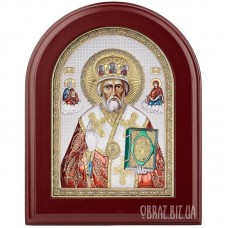 Ікона Миколи Угодника в сріблі та кольорі