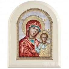 Ікона Пресвятої Богородиці Казанська в сріблі та кольорі