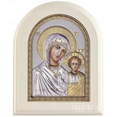 Ікона Пресвятої Богородиці Казанська в сріблі з позолотою
