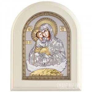 Ікона Пресвятої Богородиці «Почаївська» в сріблі з позолотою