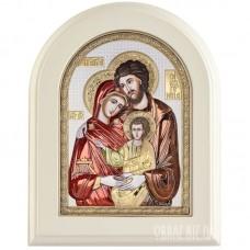 Ікона Свята Родина в сріблі та кольорі