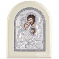 Ікона Святе Сімейство в сріблі на хрещення