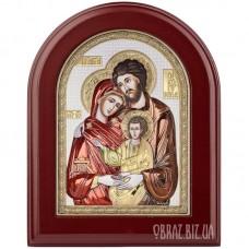 Ікона «Святе Сімейство» в сріблі та кольорі