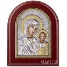 Казанська ікона Божої Матері в сріблі з позолотою