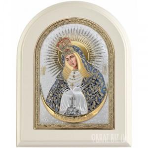 Остробрамська ікона Пресвятої Богородиці в сріблі на подарунок