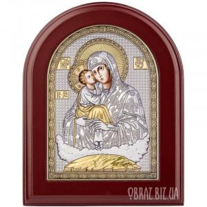 Почаївська ікона Божої Матері в сріблі з позолотою
