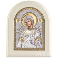 Семистрільна ікона Божої Матері в сріблі з позолотою