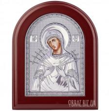 Семистрільна ікона Пресвятої Богородиці в сріблі на подарунок