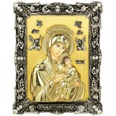 Ікона Божої Матері «Неустанної Помочі» з бронзи