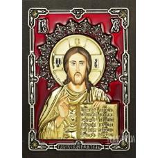 Ікона Ісуса Христа «Господь Вседержитель» з бронзи