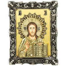 Ікона Ісуса Христа «Спас Вседержитель» з бронзи