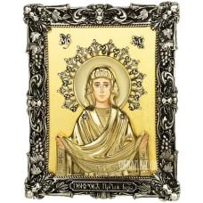 Ікона «Покрова Пресвятої Богородиці» з бронзи