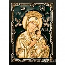 Ікона Пресвятої Богородиці «Неустанної Помочі» з бронзи