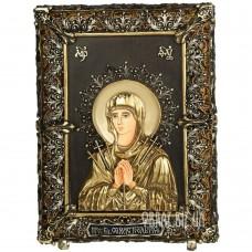 Ікона «Семистрільна» Божої Матері з бронзи