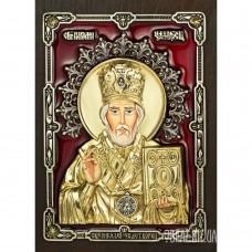 Ікона Святого Миколая Угодника з бронзи