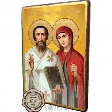 Ікона мучеників Кипріяна та Юстини