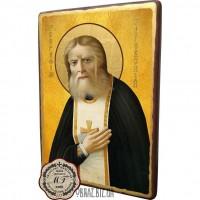 Ікона Святого Серафима Саровського під старовину
