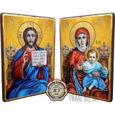 Пара вінчальних ікон «Спасителя і Божої матері на троні»