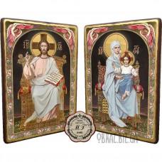 Вінчальна пара ікон «Ісуса Христа і Богородиці на троні»