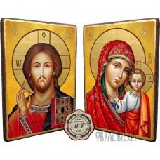 Вінчальна пара ікон «Спас і Казанська Божа Матір»