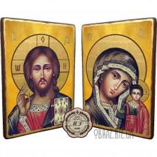 Вінчальна пара ікон «Спаситель і Казанська Богородиця»