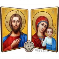 Вінчальна пара ікон «Спаситель і Казанська Божа матір»