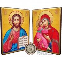 Вінчальна пара ікон «Спаситель і Володимирської Божої Матері»