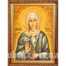 Ікона Блаженної Ксенії Петербурзької з бурштину