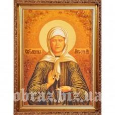 Ікона Блаженної Матрони Московської з бурштину