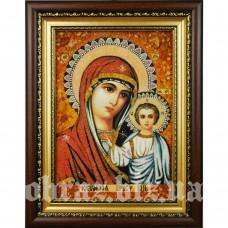 Ікона Божої Матері «Казанська» з бурштину