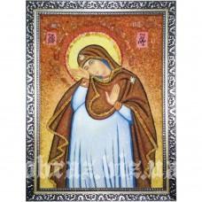 Ікона Божої Матері «Непорочне Зачаття» з бурштину
