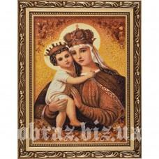 Ікона Божої Матері «Стягнення Загиблих» з бурштину