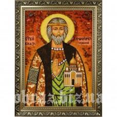 Ікона Князя Владислава Сербського з бурштину