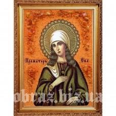 Ікона Праматері Єви з бурштину