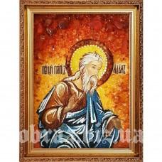 Ікона Праотця Адама з бурштину