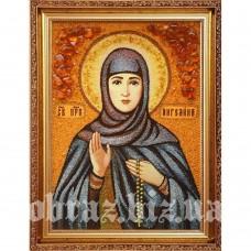Ікона Святої Ангеліни Сербської з бурштину