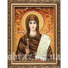 Ікона Святої Мучениці Дарії Римської з бурштину