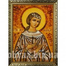 Ікона Святої Мучениці Надії Римської з бурштину