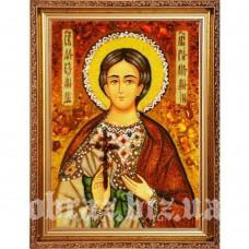 Ікона Святої Мучениці Олександри Римської з бурштину