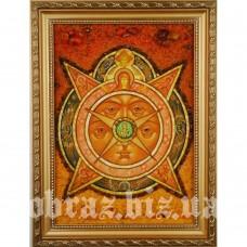 Ікона «Всевидяче Око Боже» з бурштину