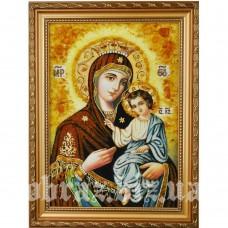 Іверська ікона Божої Матері з бурштину