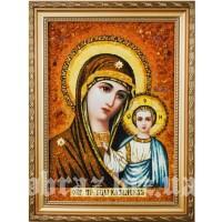 Казанська ікона Божої Матері з буршину
